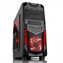 Case INVADER R03 - Gaming Middle Tower, USB3, 12cm red fan, ODD/HDD kit, Trasp Wind, Card Reader